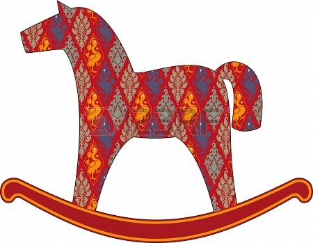 Качалка лошадка рисунок (23)