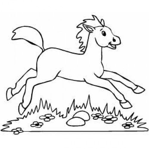 Качалка лошадка рисунок (24)
