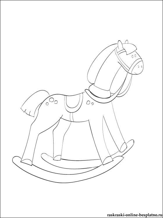 Качалка лошадка рисунок (4)