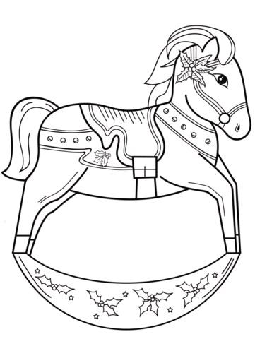 Качалка лошадка рисунок (8)