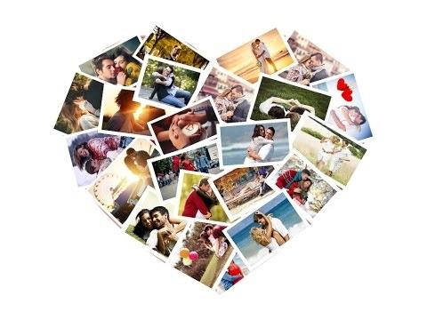 Коллаж в виде сердца   картинки (13)