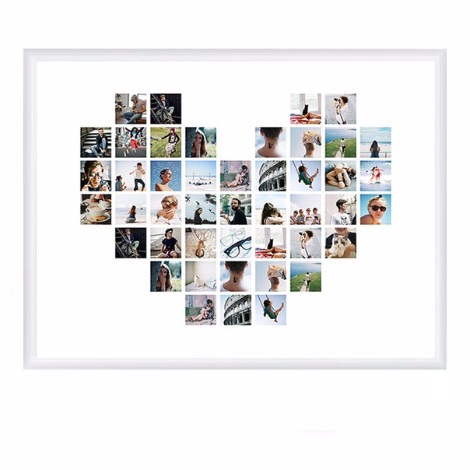 Коллаж в виде сердца   картинки (18)