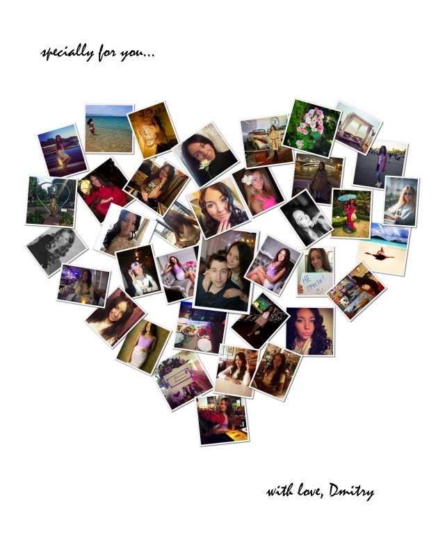 Коллаж в виде сердца   картинки (19)