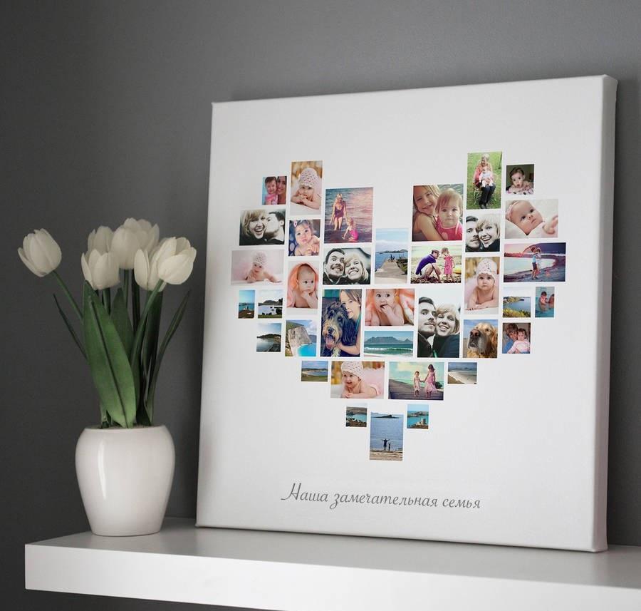Коллаж в виде сердца   картинки (20)