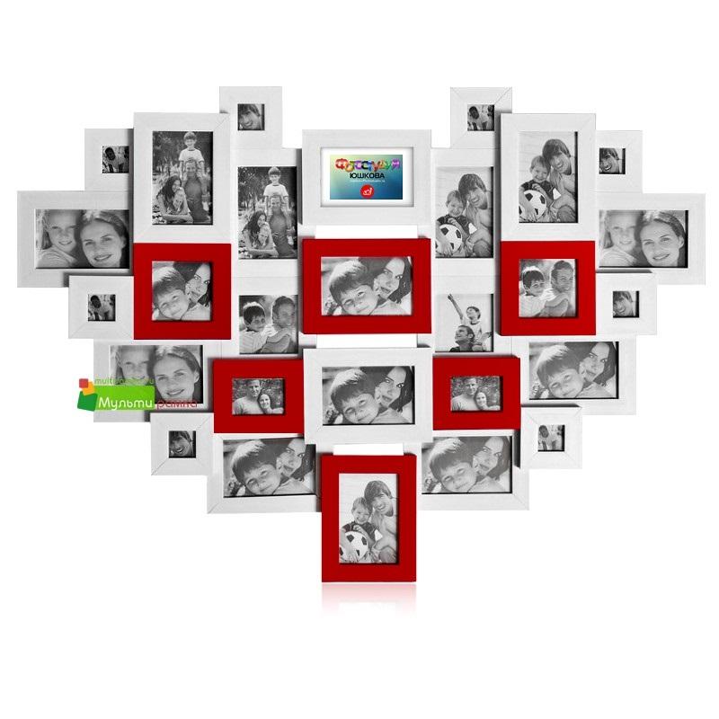 Коллаж в виде сердца   картинки (21)