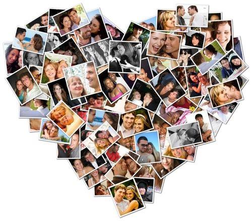 Коллаж в виде сердца   картинки (3)