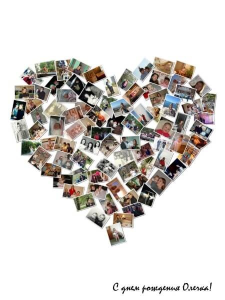 Коллаж в виде сердца   картинки (9)