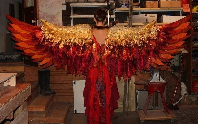 Костюм птицы соловья своими руками - фото (23)