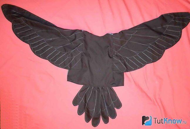 Костюм птицы соловья своими руками - фото (8)