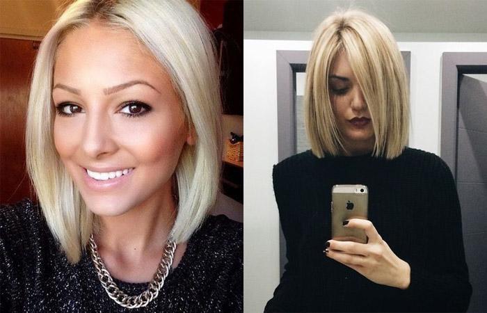 Красивое фото блондинки с боку (20)