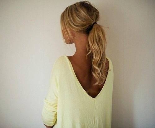 Красивое фото блондинки с боку (7)