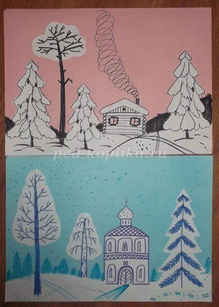 Красивые рисунки по изо 5 класс (17)