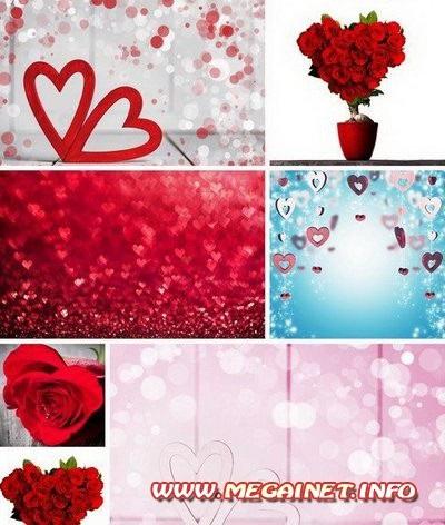 Красивые фоны с сердечками (17)