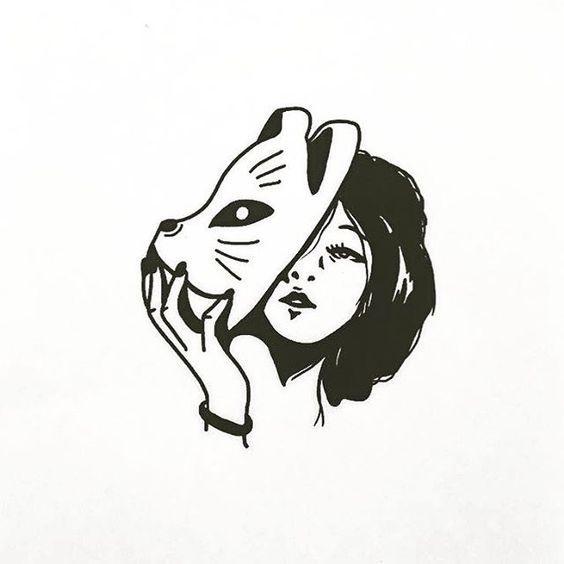 Легкие черно белые картинки для срисовки (18)