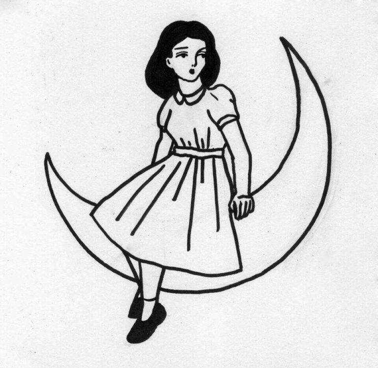 Легкие черно белые картинки для срисовки (6)