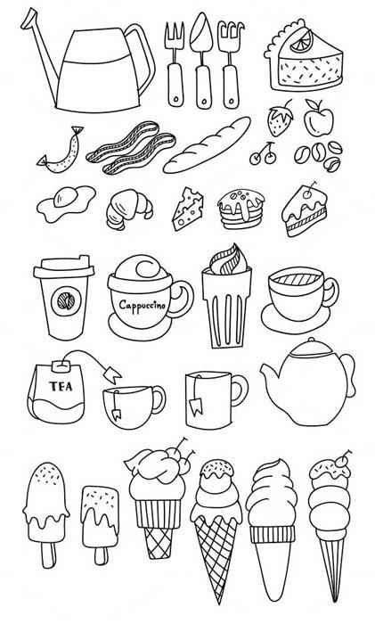 Легкие черно белые картинки для срисовки (8)