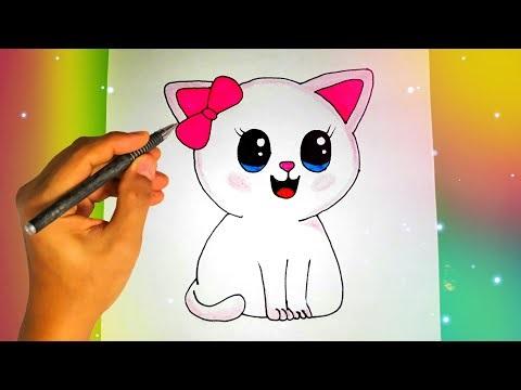 Лучшие картинки для срисовки кошки (10)