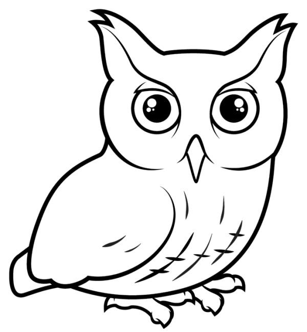 Лучшие картинки для срисовки сова (10)