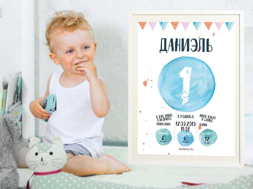Метрика для новорожденного постер шаблон (11)