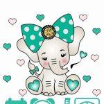 Метрика для новорожденного постер шаблон