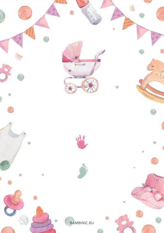 Метрика для новорожденного постер шаблон (7)