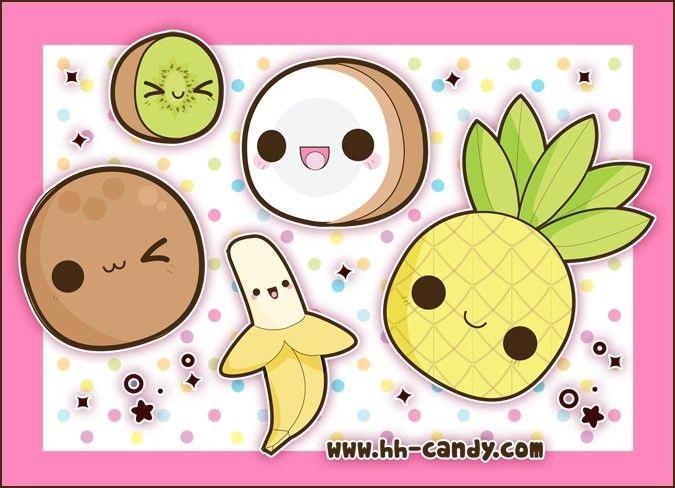 Милые картинки кавайная еда (12)
