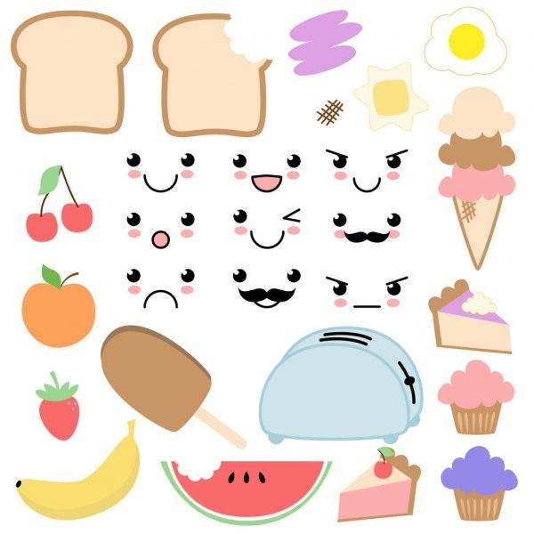 Милые картинки кавайная еда (16)
