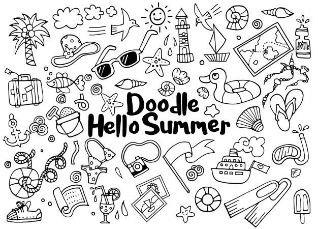 Милые картинки летние для срисовки (25)