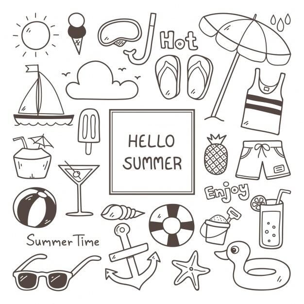 Милые картинки летние для срисовки (26)