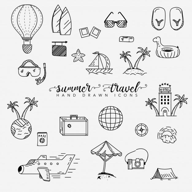 Милые картинки летние для срисовки (27)