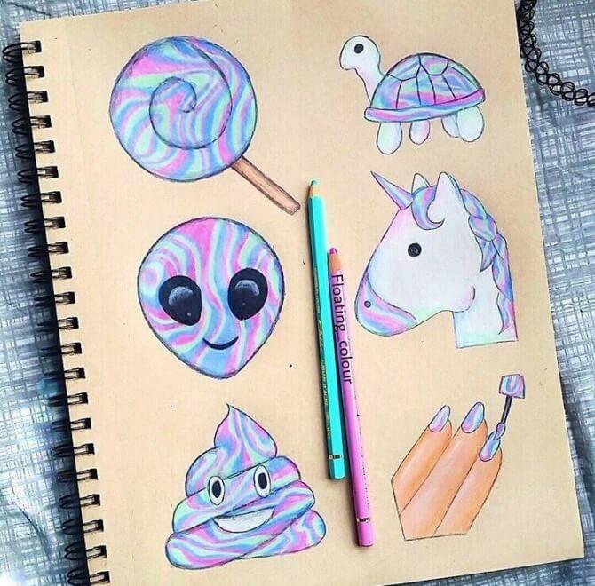 Милые рисунки для срисовки в личный дневник (6)