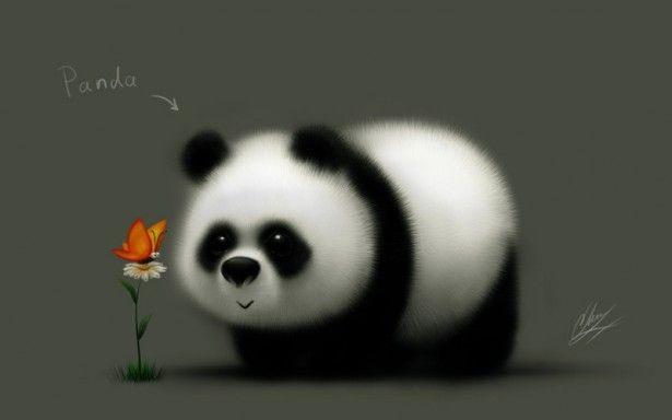Нарисованные картинки панды (10)