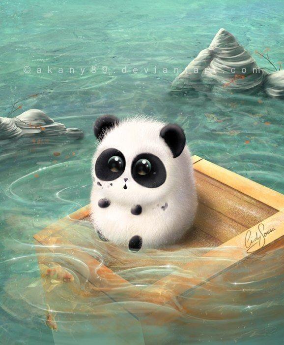 Нарисованные картинки панды (11)
