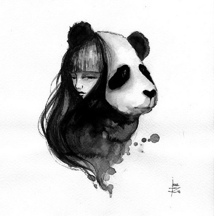 Нарисованные картинки панды (12)