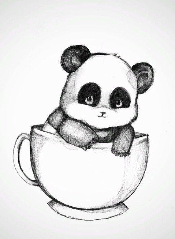 Нарисованные картинки панды (15)