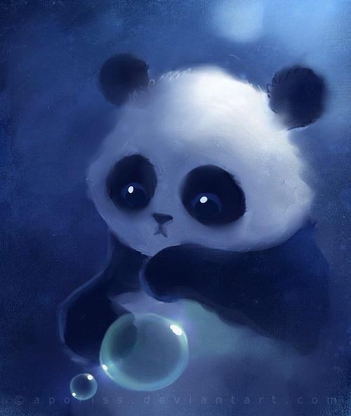 Нарисованные картинки панды (16)