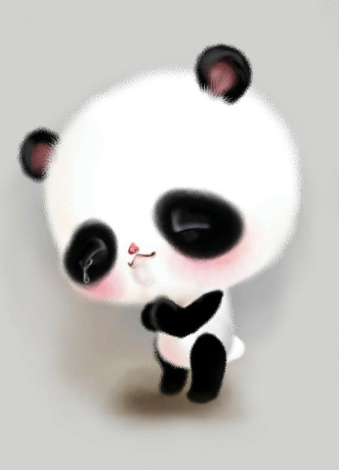 Нарисованные картинки панды (17)