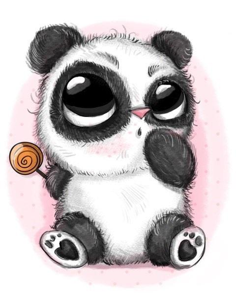 Нарисованные картинки панды (19)