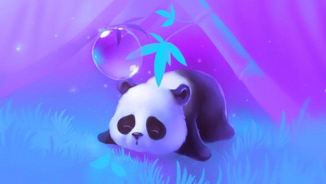 Нарисованные картинки панды (3)