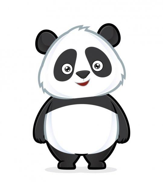 Нарисованные картинки панды (4)
