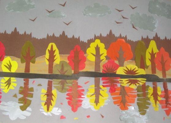 Осенний пейзаж поделки - сборка фото (11)