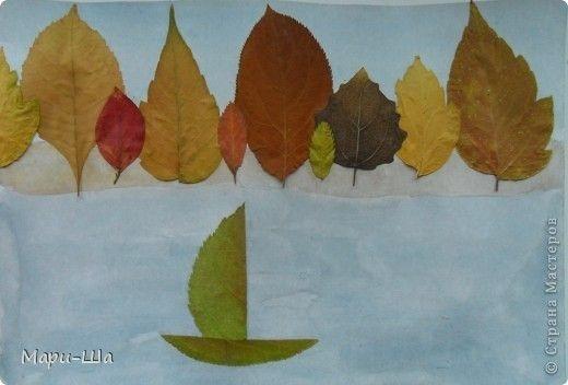 Осенний пейзаж поделки - сборка фото (12)