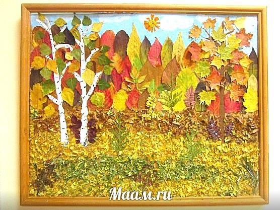 Осенний пейзаж поделки - сборка фото (17)