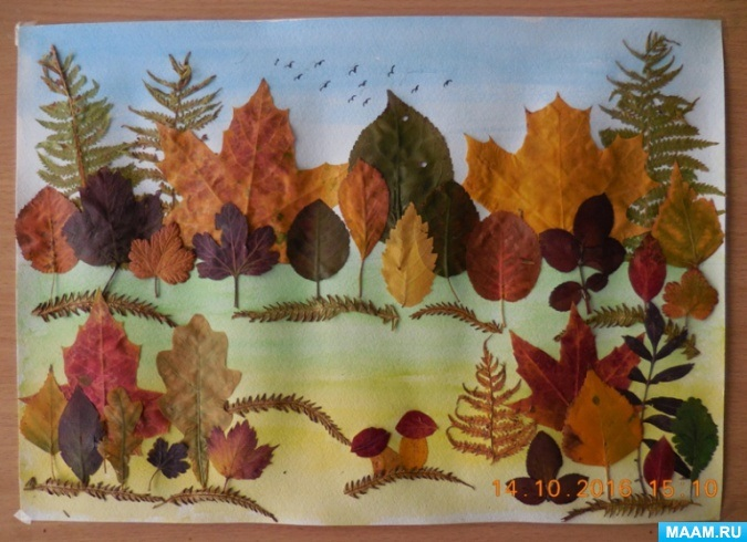 Осенний пейзаж поделки - сборка фото (18)