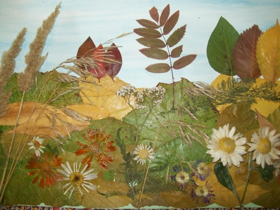 Осенний пейзаж поделки - сборка фото (21)