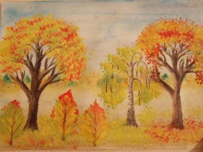 Осенний пейзаж поделки - сборка фото (22)