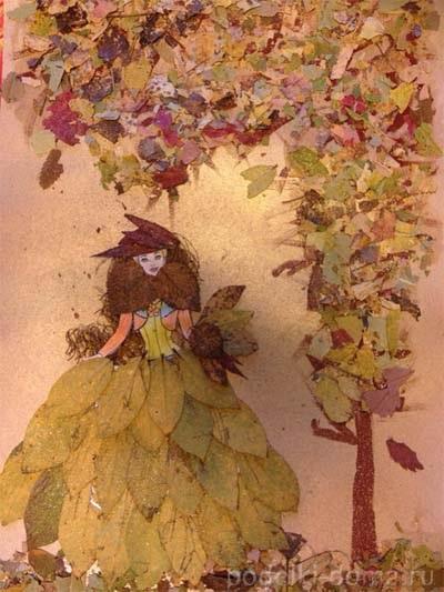 Осенний пейзаж поделки - сборка фото (3)