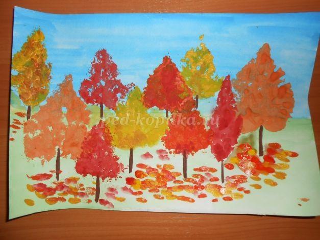 Осенний пейзаж поделки - сборка фото (4)
