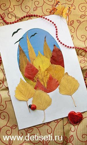 Осенний пейзаж поделки - сборка фото (7)