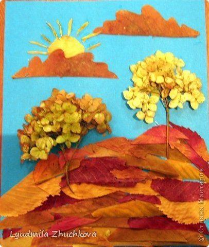 Осенний пейзаж поделки - сборка фото (8)